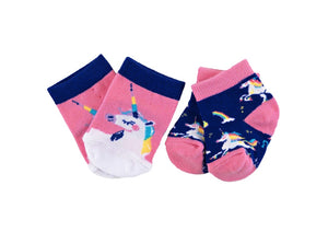 (Final Sale) Hatley Rainbow Unicorns 2-Pack Baby Socks