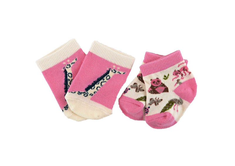 (Final Sale) Hatley Pretty Animal Safari 2-Pack Baby Socks