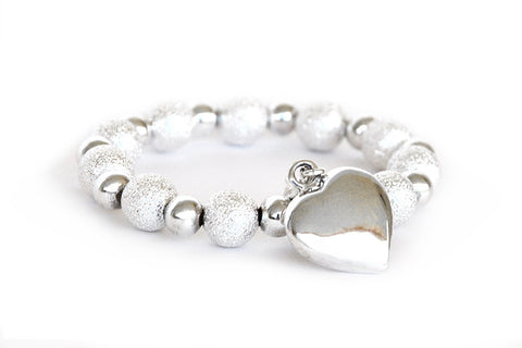 Crunch Silver Bracelet with VSL Charm
