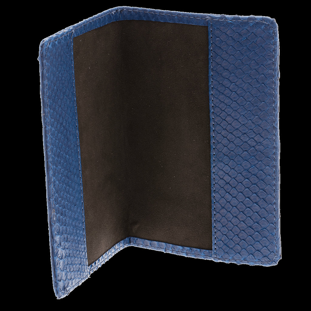 Ximena Kavalekas Python - Passport Holder Royal Blue Plain