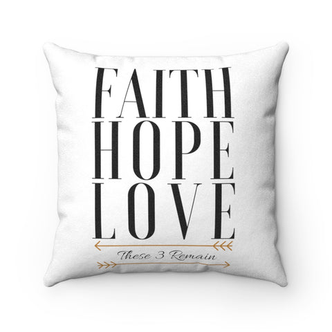 Faith Hope Love Luxe Throw Pillow - Vogue