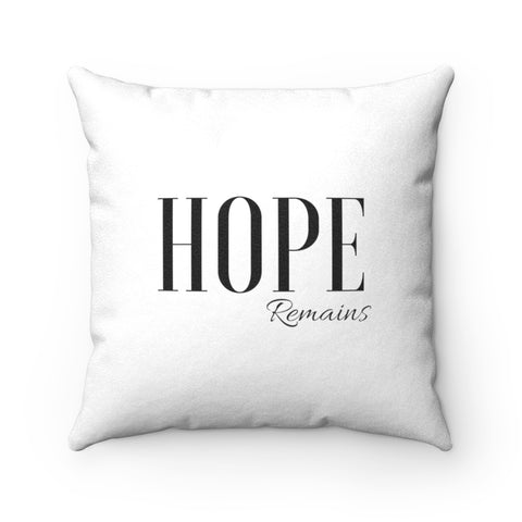 Hope Remains Luxe Throw Pillow - 2 in 1 Design