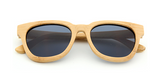 Wooden Bamboo Sunglasses - Natural Frames With Black Lens