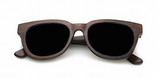 Wooden Bamboo Sunglasses - Dark Frames with Black Lens