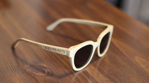 Bamboo Wooden Sunglasses - Blonde
