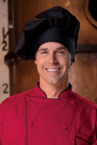 Twill Chef's Toque - Black - The Chef Hat