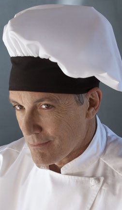 Twill Chef's Toque Hat - White/Black Trim - The Chef Hat - 2