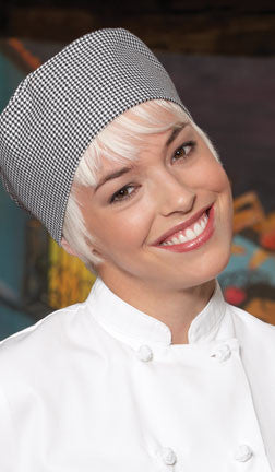 Chef Beanie - Houndstooth - The Chef Hat