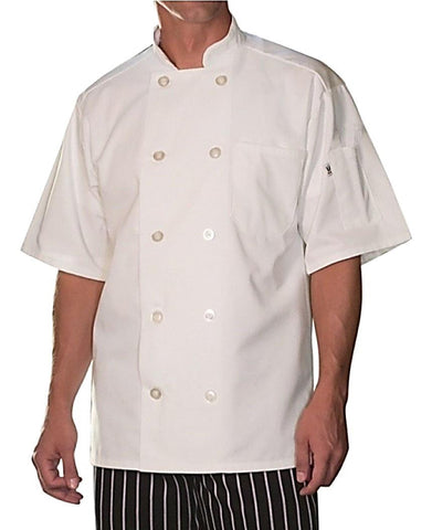 Short-Sleeve South Beach Chef Coat by Uncommon Threads™ - The Chef Hat - 1