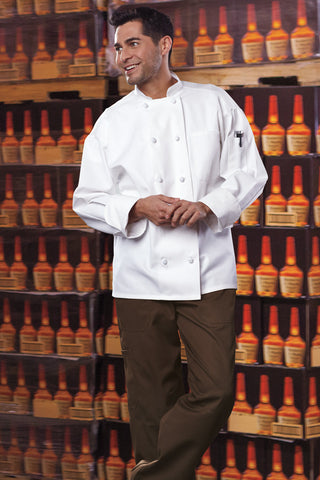 Classic Knot Chef Coat with Mesh by Uncommon Threads™ - The Chef Hat - 1