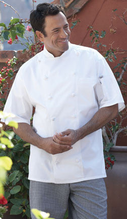 Short Sleeve Master Chefs Coat by Uncommon Threads™ - The Chef Hat - 1