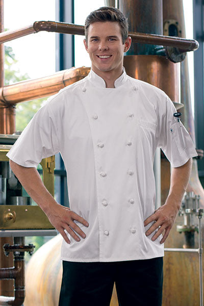 Short Sleeve Master Chefs Coat by Uncommon Threads™ - The Chef Hat - 2