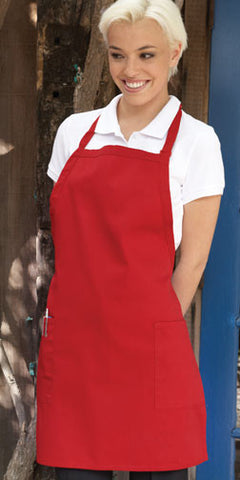 Bib Apron w/ 2 Patch Pockets - The Chef Hat - 1