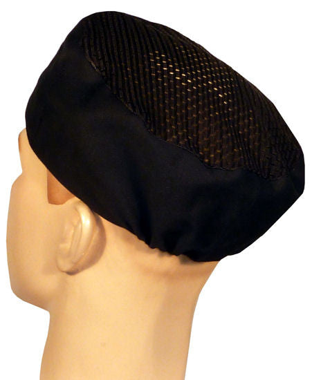 Chef's Beanie Elastic Back Airflow Mesh w/Sweatband, Black or White - The Chef Hat - 1