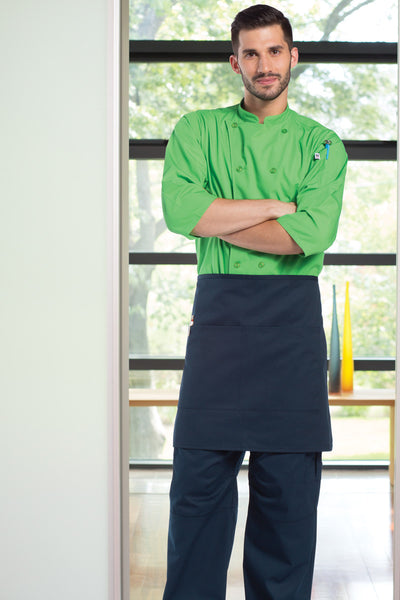Half Waist 2-Section Pocket Apron - The Chef Hat - 6