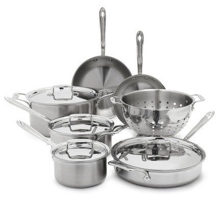 All-Clad® D5 Brushed Stainless Steel 10-Piece Set - The Chef Hat