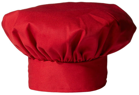 Twill Chef's Toque - Red - The Chef Hat - 1