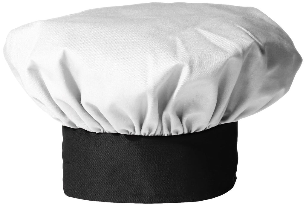 Twill Chef's Toque Hat - White/Black Trim - The Chef Hat - 1