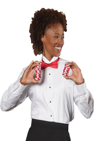 Ladies Tuxedo Shirt 1/8 Pleat - The Chef Hat