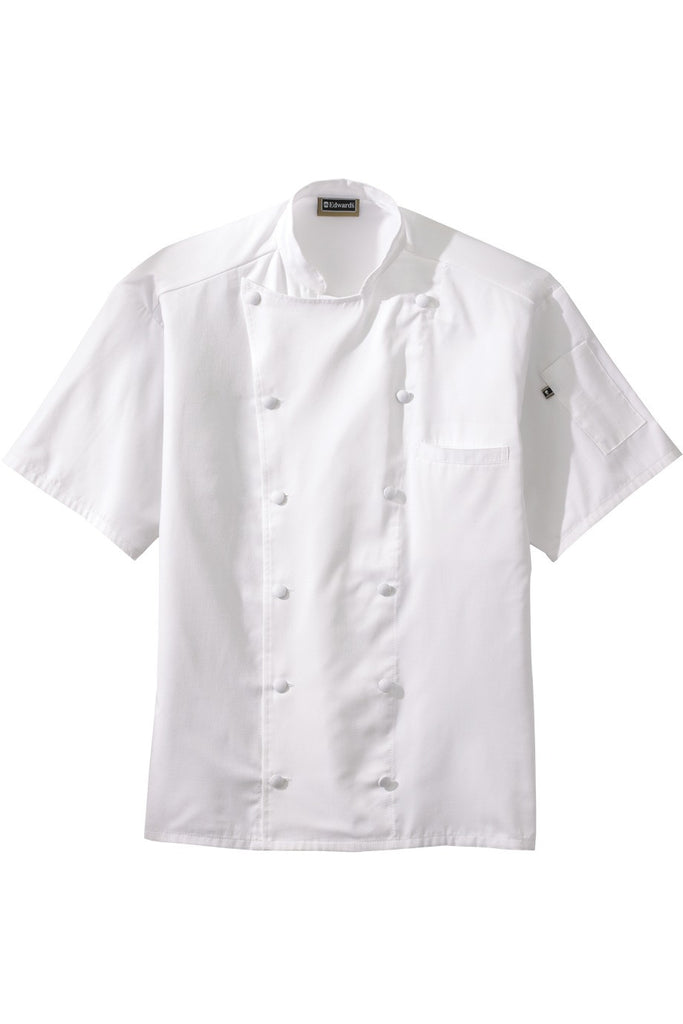 Edwards Garment 12-Button Moisture Wicking Short Sleeve Chef Coat - The Chef Hat - 1