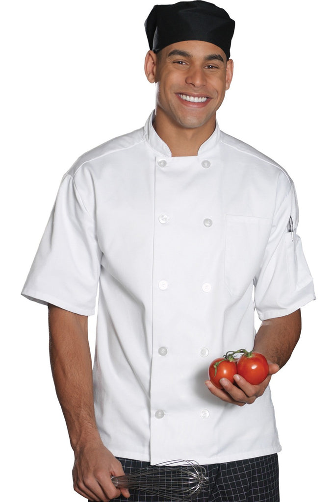 Edwards Garment 10-Button Short Sleeve Traditional Chef Coat - The Chef Hat - 1