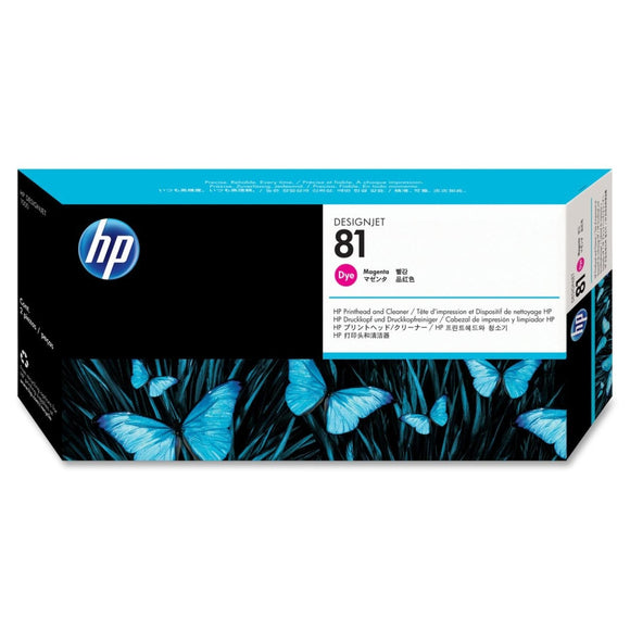 C4952A - HP Magenta Printhead/Cleaner NO 81 MAGENTA DYE PRINTHEAD/PH DESIGNJET 5000 5500 Inkjet - CoolGraphicStuff.com