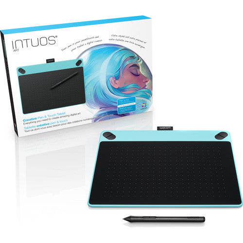 Wacom Intuos Art Pen & Touch Medium Tablet (Mint Blue) CTH690AB