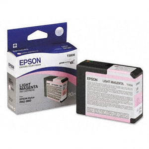 T580600 - Epson Stylus Pro 3800 - 80ml Light Magenta UltraChrome K3 Ink Cartridge - CoolGraphicStuff.com