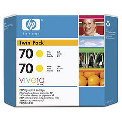 HP 70 CB345A Yellow Ink Cartridge Twin Pack 2 x C9454A