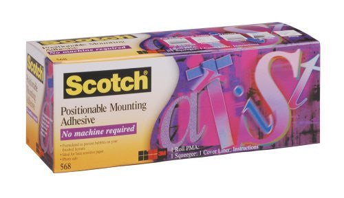 3M(TM) Positionable Mounting Adhesive 568, 24 Inches x 50 Feet - CoolGraphicStuff.com