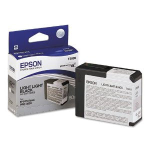 T580900 - Epson Stylus Pro 3800 - 80ml Light Light Black UltraChrome K3 Ink Cartridge - CoolGraphicStuff.com