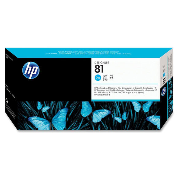 C4951A - HP Cyan Printhead/Cleaner NO 81 CYAN DYE PRINTHEAD/PH DESIGNJET 5000 5500 Inkjet