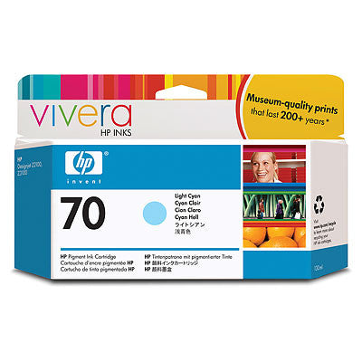 HP 70 Light Cyan Ink Cartridge - C9390A