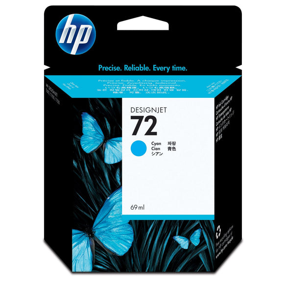 HP 72 C9398A Cyan Ink Cartridge - CoolGraphicStuff.com