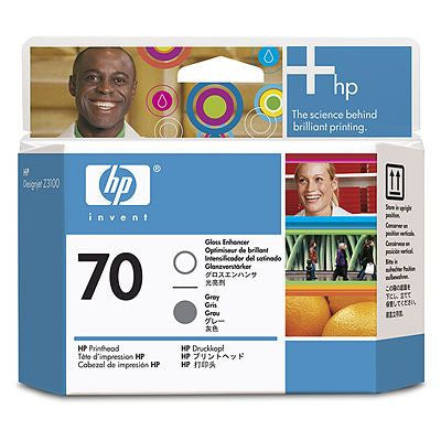 HP 70 Gloss Enhancer and Gray Printhead - C9410A