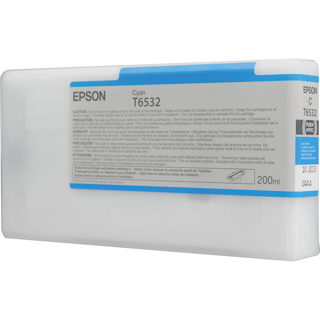 Epson UltraChrome Ink for the Epson Stylus Pro 4900 Inkjet Printer (Cyan, 200ml)