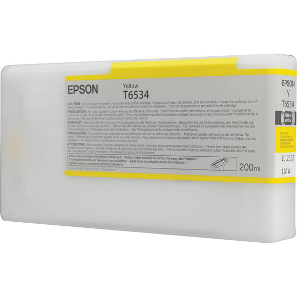 Epson Yellow UltraChrome Ink Cartridge for Stylus Pro 4900 (200 ml) - CoolGraphicStuff.com