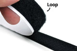 1 Inch Black Adhesive Back Loop Velcro - 25 Yd Roll - CoolGraphicStuff.com