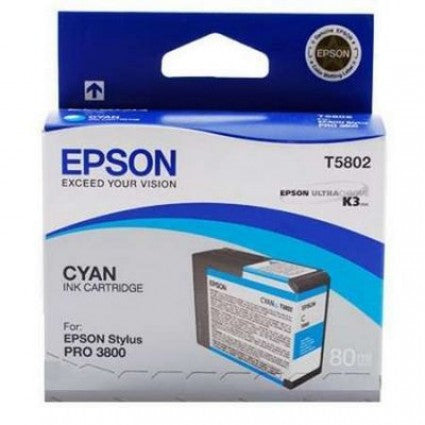 T580200 - Epson Stylus Pro 3800 - 80ml Cyan UltraChrome K3 Ink Cartridge - CoolGraphicStuff.com