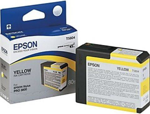T580400 - Epson Stylus Pro 3800 - 80ml Yellow UltraChrome K3 Ink Cartridge - CoolGraphicStuff.com