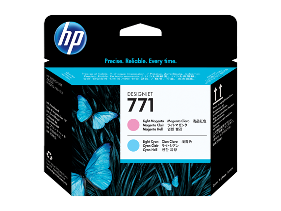 HP 771 Light Magenta, Light Cyan Printheads - CE019A