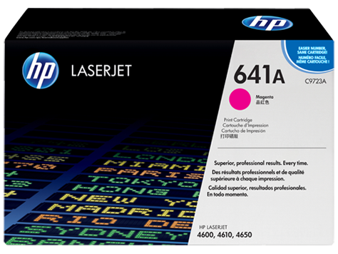 C9723A - HP Magenta Toner Cartridge - MAGENTA TONER/SMART PRINT CARTRIDGE FOR COLOR LJ 4600/4650 SERIES Laser - CoolGraphicStuff.com