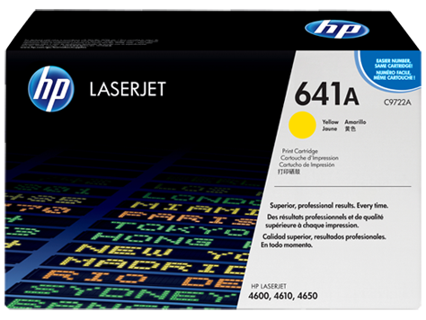 C9722A - HP Yellow Toner Cartridge - YELLOW TONER/ SMART PRINT CART FOR COLOR LaserJet 4600/4650 SERIES - Laser - 8000 Page - Yellow
