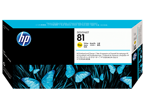 C4953A - HP Yellow Printhead/Cleaner NO 81 YELLOW DYE PRINTHEAD/PH DESIGNJET 5000 5500 Inkjet