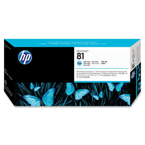 C4954A - HP Light CYAN Printhead/Cleaner NO 81 LT CYAN DYE PRINTHEAD/PH DESIGNJET 5000 5500 Inkjet