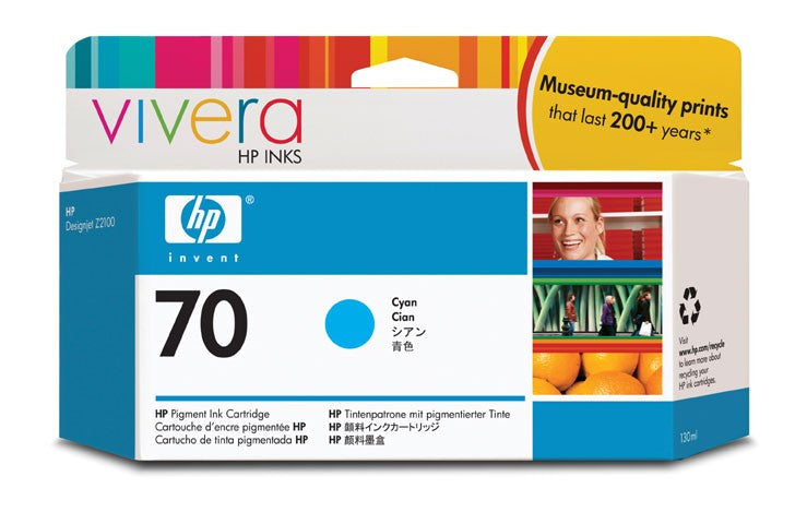 HP 70 Cyan Ink Cartridge - C9452A