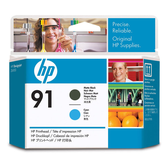 HP 91 Matte Black and Cyan Printhead - C9460A - CoolGraphicStuff.com