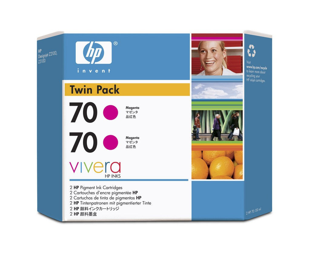 HP 70 CB344A - Magenta Twin Pack - 2 x C9453A