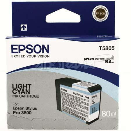 T580500 - Epson Stylus Pro 3800 - 80ml Light Cyan UltraChrome K3 Ink Cartridge - CoolGraphicStuff.com