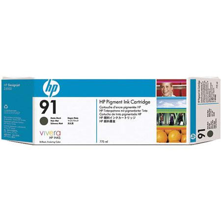 C9464A - HP 91 775-ml Pigment Matte Black Ink Cartridge for the HP Designjet Z6100 Printer, HP Designjet Z6100PS Printer